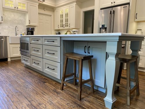 Island view of a south Tulsa kitchen renovation